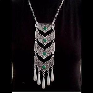 Jewelry - Silver Bohemian Turkish Necklace